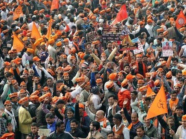 بھارت میں انتہا پسند ہندوؤں کی مسلمانوں کے خلاف نعرے بازی