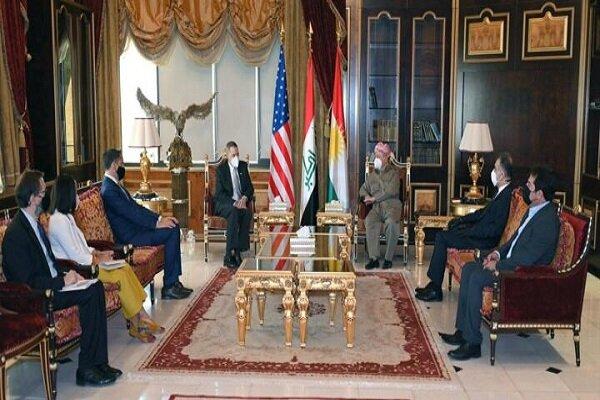 رایزنی بارزانی با سفیر آمریکا در بغداد