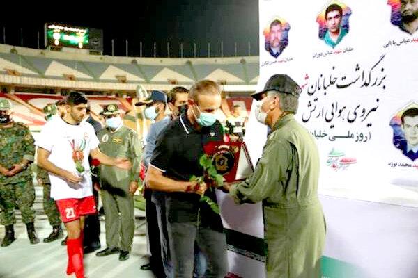 قدردانی فرمانده نیروی هوایی از فدراسیون فوتبال و سازمان لیگ