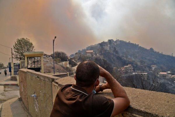 آتش سوزی در الجزایر بیش از ۴۰ نفر را به کام مرگ فرستاد