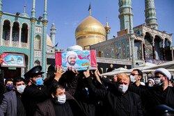 تشییع شهید مدافع حرم حجت الاسلام محمدمهدی مالامیری در قم