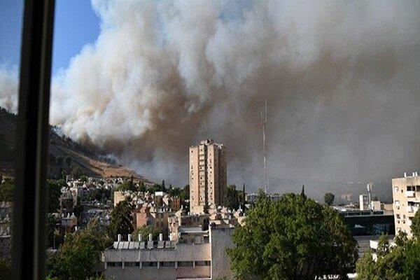 وقوع آتش سوزی گسترده در پایگاه نظامی اسرائیل در مرز لبنان