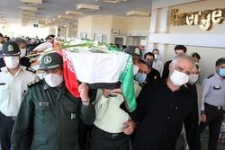 هفتمین شهید مدافع سلامت در یزد تشییع شد