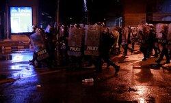 درگیری پلیس با معترضان به سیاستهای مهار کرونا در بانکوک