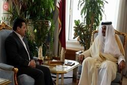 الأعرجي يسلم امير قطر دعوة من الكاظمي لحضور قمة بغداد