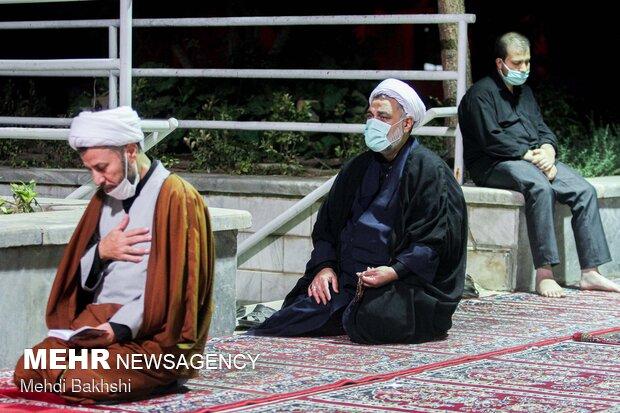 Mourning ceremonies in Feyziyeh School of Qom