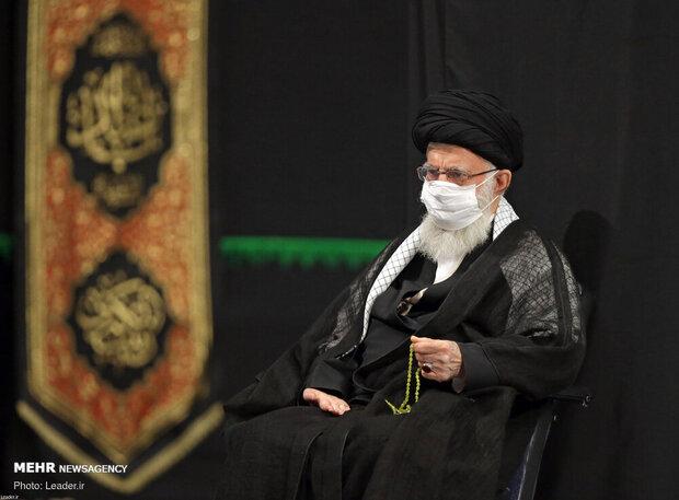 حسینیہ امام خمینی (رہ) میں رہبر معظم کی موجودگي مجالس عزا کا انعقاد