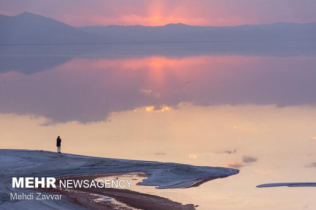 Lake Urmia these days amid pandemic