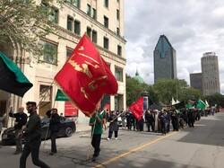 راهپیمایی عاشورایی عزاداران حسینی در مونترال کانادا