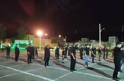 آیینهای سوگواری محرم در اردستان/برافراشتن بیرقهای حسینی با رعایت پروتکلهای بهداشتی