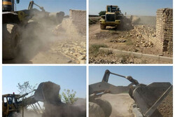 ۲۸ مورد ساخت و ساز غیرمجاز در اراضی کشاورزی پاکدشت تخریب شد