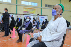 Vaccination center in Yazd