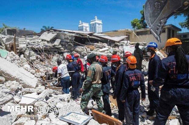 ہیٹی میں زلزلے کے نتیجے میں ہلاکتوں کی تعداد 1300ہوگئی