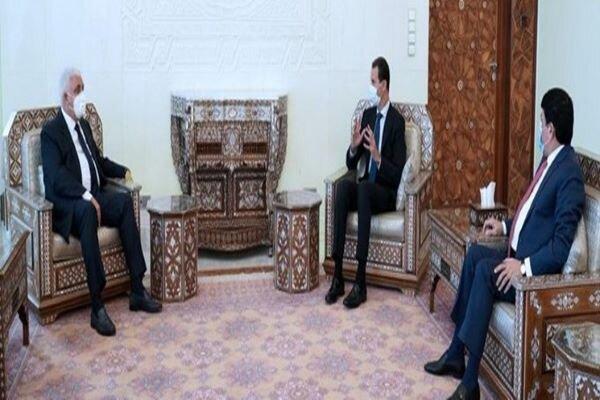 الرئيس السوري يلتقي رئيس هيئة الحشد الشعبي