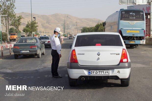 اجرای طرح منع تردد در مبادی ورودی مرکز کردستان