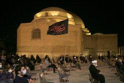 مراسم سوگواری اباعبدالله الحسین (ع) در محوطه مسجد کبود تبریز