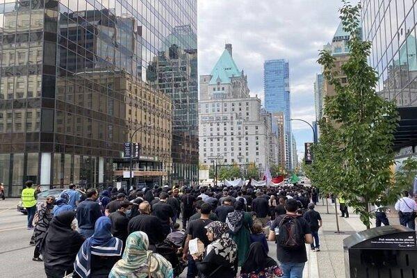 راهپیمایی عزاداران حسینی در ونکوور کانادا برگزار شد
