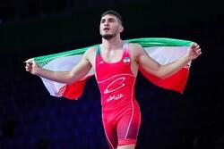 Iran freestyle wrestlers win 2 gold, 1 bronze