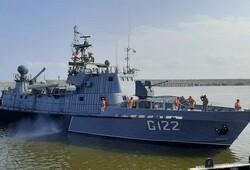 Azeri naval vessels dock at Anzali Port