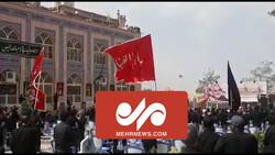 حال و هوای مزار شهید حاج قاسم سلیمانی در ظهر تاسوعا
