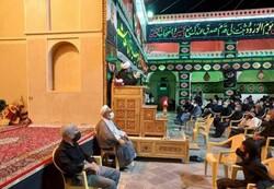 برگزاری مراسم عزاداری در خیمه سبز حسینی زواره اردستان