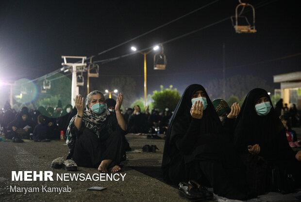 عزاداری شب تاسوعای حسینی در  هیئت ریحانه الحسین