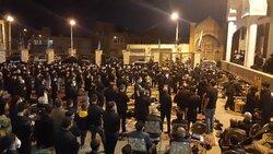 عزاداری حسینیان محله «اوچ دکان» اردبیل در شب عاشورای حسینی