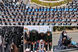 «ایران» ظهر عاشورا به نماز ایستاد/ عزاداران به حسین(ع) اقتدا کردند