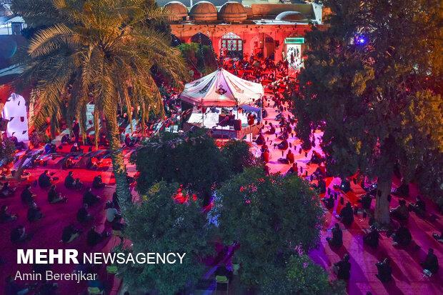 مراسم عزاداری شب عاشورای حسینی در حرم حضرت علی بن حمزه(ع) شیراز