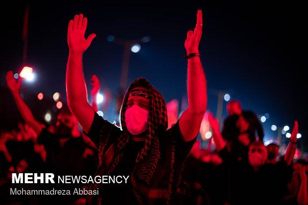مراسم عزاداری شب عاشورای حسینی(ع) در تهران