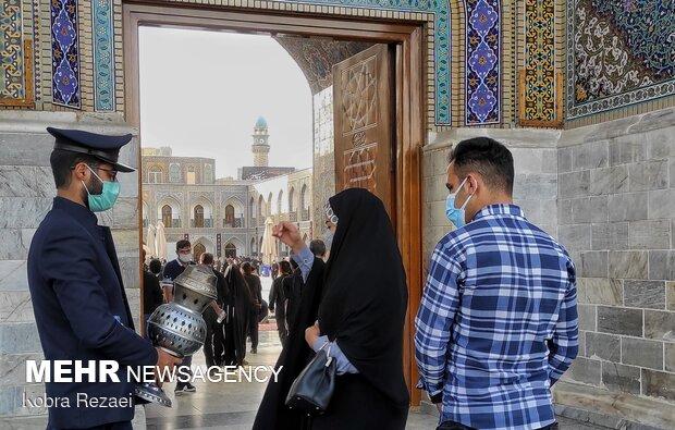Imam Reza holy shrine in Tasu'a Day
