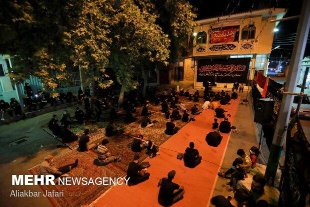 عزاداری شب عاشورا در محلات قدیمی شهر گرگان