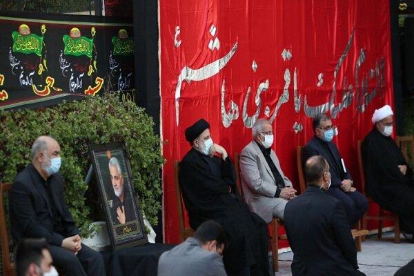 اقامة مراسم العزاء الحسيني في مؤسسة رئاسة الجمهورية الايرانية