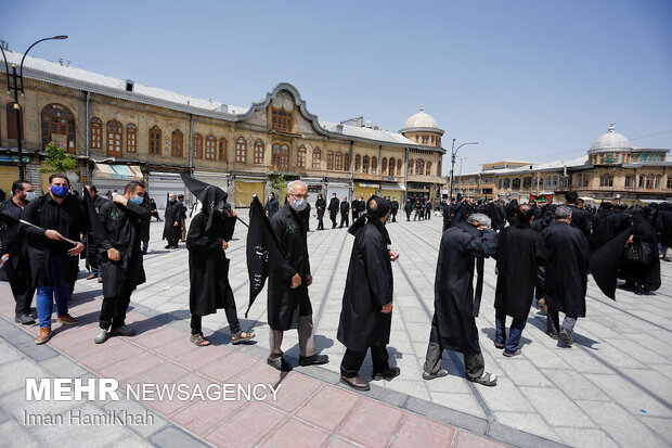 Ashura Day mourning ceremony observed in Hamadan