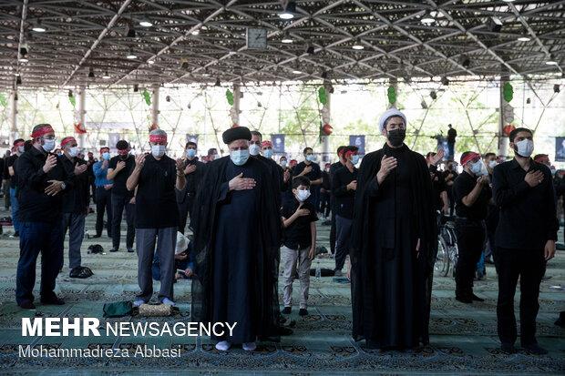 حضور رئیس جمهور در مراسم عزاداری روز عاشورای حسینی (ع)