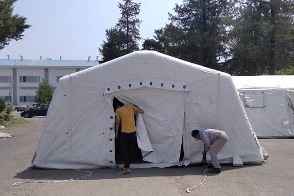 بیمارستان صحرایی نیروی دریایی ارتش در رشت راه اندازی شد