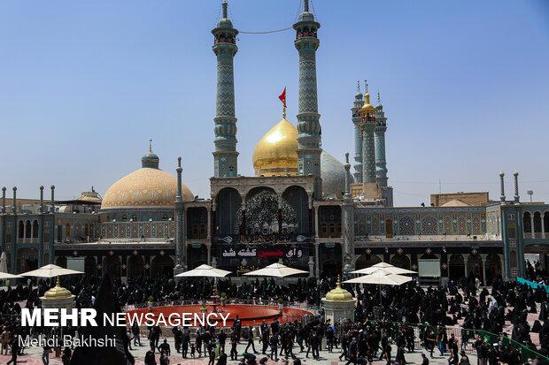 محافل عزاداری اربعین حسینی در حرم کریمه اهلبیت(س) برگزار می شود