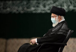 رہبر معظم انقلاب اسلامی کی موجودگی میں مجلس شام غریباں منعقد