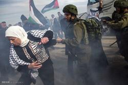 Zionists raid Palestinians' rally, dozens injured in WB