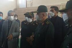 افتتاح مرکز واکسیناسیون شهید پورجعفری توسط سردار سلامی