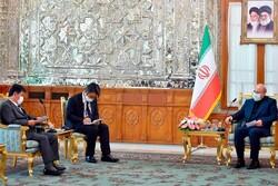 Galibaf, Japonya Dışişleri Bakanı ile görüştü