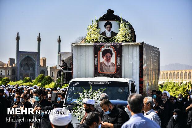 مراسم تشییع و تدفین آیت الله فقیه ایمانی(ره)-اصفهان