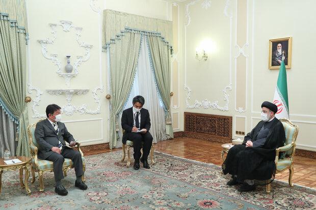 جاپان کے وزير خارجہ کی صدر سید ابراہیم رئیسی کے ساتھ ملاقات