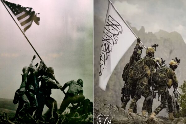 Taliban mocks US with a famous World War II photo