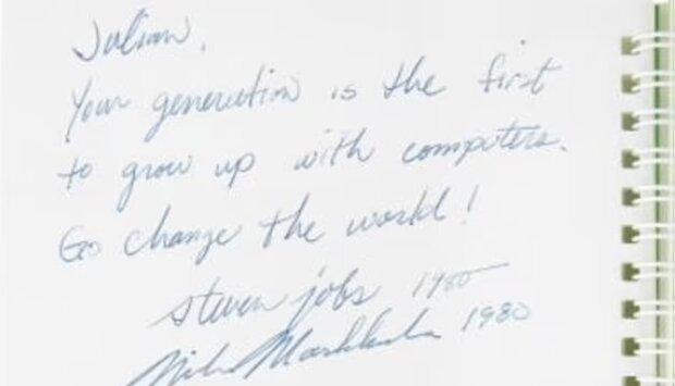 امضای استیو جابز ۸۰۰ هزار دلار فروخته شد!
