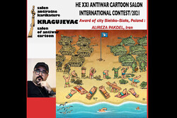Iranian cartoonist wins award at Serbian cartoon contest