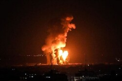 Siyonist güçleri yine Gazze'yi havadan vurdu