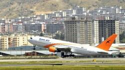 An Afghan airliner allowed to land planes in Iran