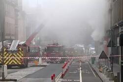 Widespread fire sweeps through Edinburgh, Scotland
