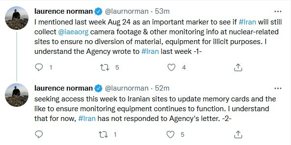 US journalist claims IAEA penned letter to Iran last week